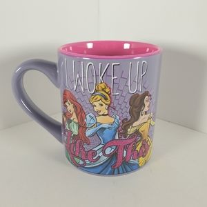 Disney Princess I Woke Up Like This Glitter Mug